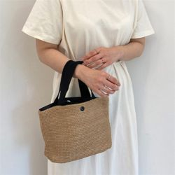 심플 밀짚백 여성 여름 밀짚 라탄 가방 숄더백