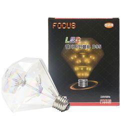 눈꽃 다이아 LED 에디슨전구 2W E26