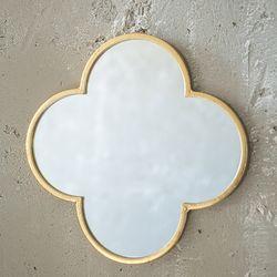 071402 빈티지 네잎 금속 거울  (대)