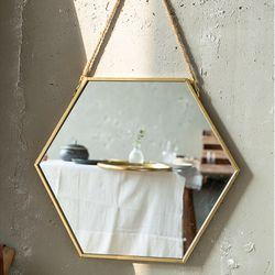 071404 육각형 금속 거울