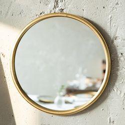071405 빈티지 원형 금속 거울