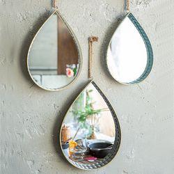 071407 빈티지 물방울 금속 거울 3p 세트