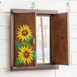 071408 고가구 해바라기 창문 거울