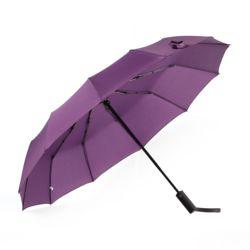 파스텔 3단 12폭 완전자동 우산 (퍼플)
