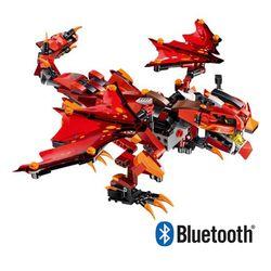 블럭 테크닉 블루투스 스마트 파이어 드래곤 레드 블럭RC 485pcs
