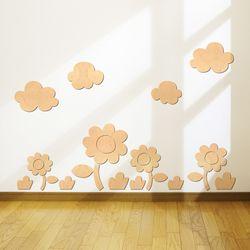 [우드스티커] 꽃과들 (반제품) W555H 유치원꾸미기