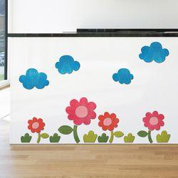 [우드스티커] 꽃과들 (컬러완제품) W556 아이방스티커