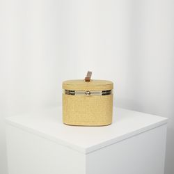 둥근 라탄 피크닉 가방 아이보리(AG2M8705TAII)