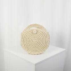 서클무늬 라탄 크로스백 아이보리(AG2M8729TAII)