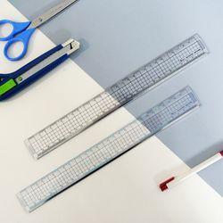 비팬시 15cm 30cm 커팅자 제도용 사무용 방안직자 문구센치자