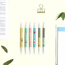 세계문학 듀오 형광펜 2색 패키지