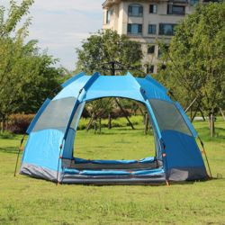 3-4인용 캠핑윈드 원터치 텐트(블루)