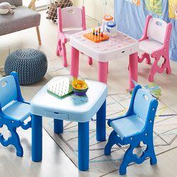 하이지니 유아 책상 및 의자 세트 (한글 영어 공부)