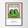 심쿵 개구리 M 유니크 인테리어 디자인 포스터 A3(중형)