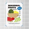 여름 과일 주스 M 유니크 인테리어 디자인 포스터 A3(중형)