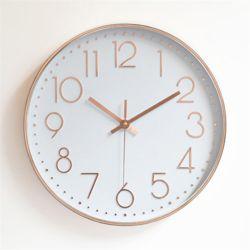 무소음 벽시계 (로즈골드 화이트) 거실 사무실벽시계