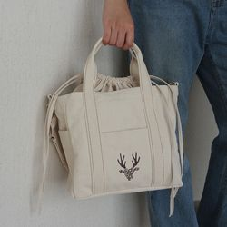 Ivory stitch tote bag