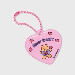 Bear heart-pink(PVC키링)