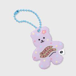 Cherry blossom bear-purple(PVC키링)