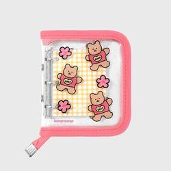 Blossom bear heart-pink(3hole diary)