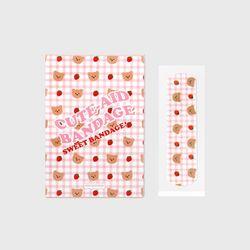 Dot strawberry check-pink(대일밴드)