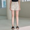 WASH CUTTING COTTON SHORTS [IVORY]