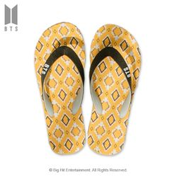 (PMC)BTS 공식 방탄소년단 2020 여름 IDOL 플립플랍 샌들 옐로우