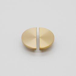 가구 손잡이 황동 반달손잡이-소(42mm) 1홀 (1개)