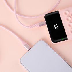USB C to 8핀 PD 고속충전 케이블 1.5M (LFS-HA38) 베이비핑크