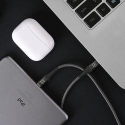 USB C to 8핀 PD 고속충전 케이블 1.5M (LFS-HA38) 다크그레이