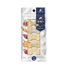 네츄럴코어 장건강 강아지간식 콕치즈 과일과 야채 65g