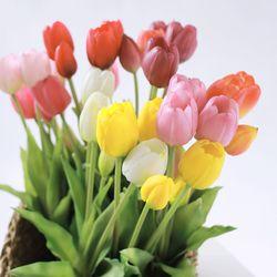 프리미엄 망고 튤립 조화 5송이 (8color) 인테리어 꽃장식