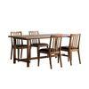 [스크래치]로사 원목 4인용 테이블 식탁세트(테이블1개+의자4개)