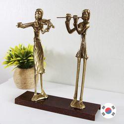 바이올린&플루트 2중주 동공예 장식품 STD-501