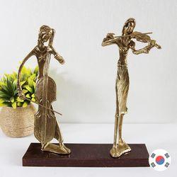 첼로&바이올린 2중주 동공예 장식품 STD-503