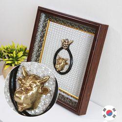황소 코뚜레 황동 인테리어 액자 SJB-926W 국내제조