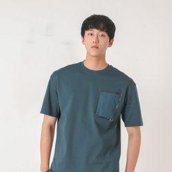 MMMW 수피마 우븐 포켓 오버핏 남자 반팔 티셔츠