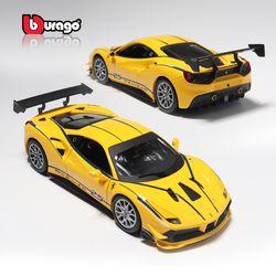 브라고 1:24  페라리 488 challenge Yellow 다이캐스트 모형차