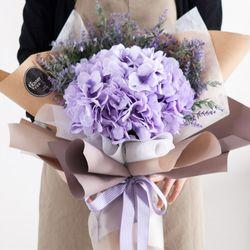 티볼리수국꽃다발 60cmP 조화 꽃다발 선물 FMBBFT