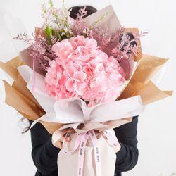 피오리타수국꽃다발 65cmP 조화 꽃다발 선물 FMBBFT