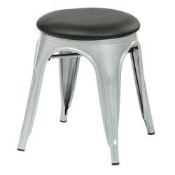 C1098인조가죽 철제 원형 보조 의자