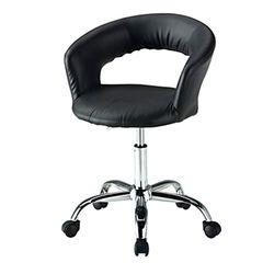 C1111인조가죽 철제 바퀴형 보조 의자