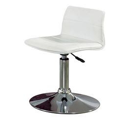 C1117인조가죽 철제 원반형 보조 의자