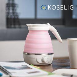 코슬리 크럼플 휴대용여행용 전기포트 핑크 SN-3601P