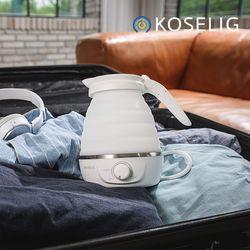 코슬리 크럼플 휴대용여행용 전기포트 화이트 SN-3601W