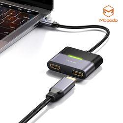 Mcdodo 3 in 1 C타입 허브 어댑터 HDMI X 2 C타입 PD