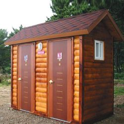 T119나무집형 2조 수세식 이동화장실