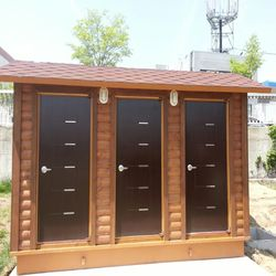 T120나무집형 3조 자연발효식 이동화장실
