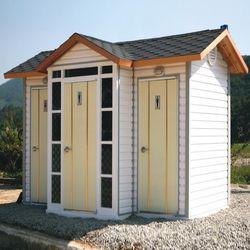T121나무집형 와이드 수거식 이동화장실