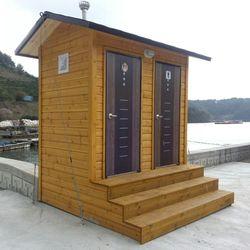 T128나무집형 2조 수거식 이동화장실